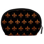 ROYAL1 BLACK MARBLE & RUSTED METAL Accessory Pouches (Large)  Back
