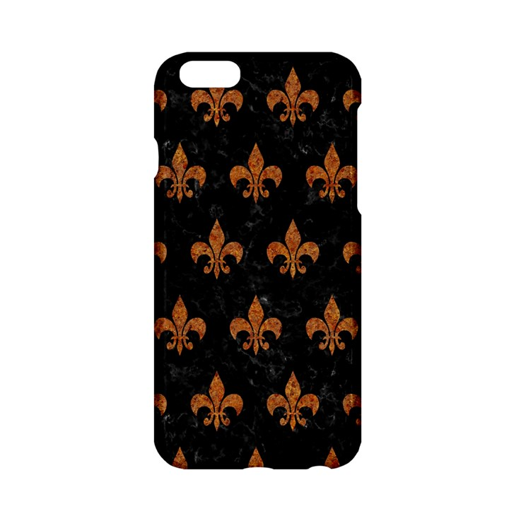 ROYAL1 BLACK MARBLE & RUSTED METAL Apple iPhone 6/6S Hardshell Case