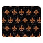 ROYAL1 BLACK MARBLE & RUSTED METAL Double Sided Flano Blanket (Large)   Blanket Back