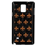 ROYAL1 BLACK MARBLE & RUSTED METAL Samsung Galaxy Note 4 Case (Black) Front