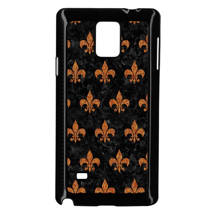 ROYAL1 BLACK MARBLE & RUSTED METAL Samsung Galaxy Note 4 Case (Black)