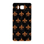 ROYAL1 BLACK MARBLE & RUSTED METAL Samsung Galaxy Alpha Hardshell Back Case Front