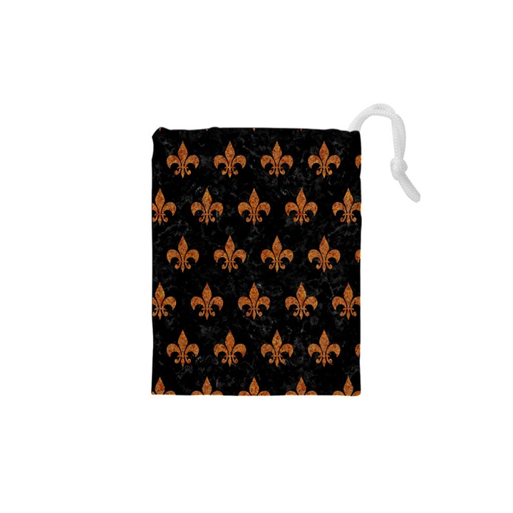 ROYAL1 BLACK MARBLE & RUSTED METAL Drawstring Pouches (XS)