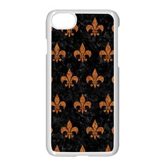 Royal1 Black Marble & Rusted Metal Apple Iphone 7 Seamless Case (white)
