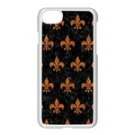 ROYAL1 BLACK MARBLE & RUSTED METAL Apple iPhone 7 Seamless Case (White) Front