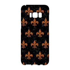 Royal1 Black Marble & Rusted Metal Samsung Galaxy S8 Hardshell Case