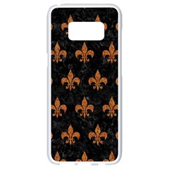 Royal1 Black Marble & Rusted Metal Samsung Galaxy S8 White Seamless Case