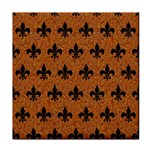 ROYAL1 BLACK MARBLE & RUSTED METAL (R) Tile Coasters Front