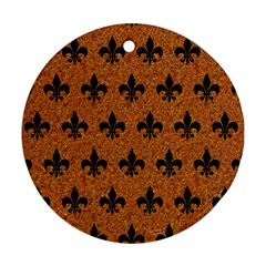 Royal1 Black Marble & Rusted Metal (r) Ornament (round)