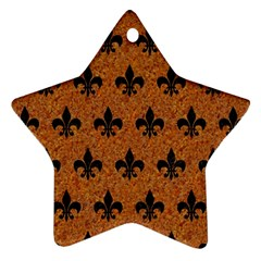 Royal1 Black Marble & Rusted Metal (r) Ornament (star)