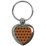 ROYAL1 BLACK MARBLE & RUSTED METAL (R) Key Chains (Heart)  Front