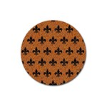 ROYAL1 BLACK MARBLE & RUSTED METAL (R) Magnet 3  (Round) Front