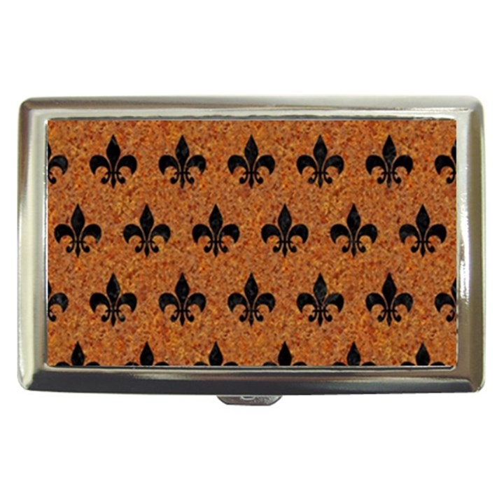 ROYAL1 BLACK MARBLE & RUSTED METAL (R) Cigarette Money Cases