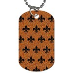 ROYAL1 BLACK MARBLE & RUSTED METAL (R) Dog Tag (Two Sides) Back