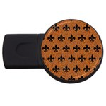 ROYAL1 BLACK MARBLE & RUSTED METAL (R) USB Flash Drive Round (2 GB) Front