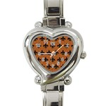 ROYAL1 BLACK MARBLE & RUSTED METAL (R) Heart Italian Charm Watch Front