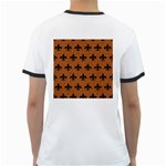 ROYAL1 BLACK MARBLE & RUSTED METAL (R) Ringer T-Shirts Back