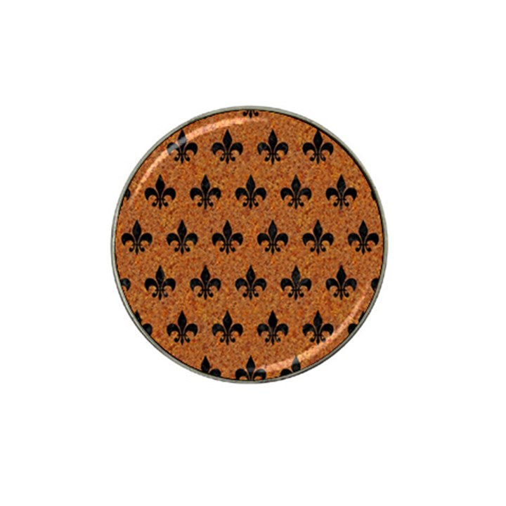 ROYAL1 BLACK MARBLE & RUSTED METAL (R) Hat Clip Ball Marker (10 pack)
