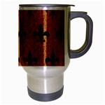 ROYAL1 BLACK MARBLE & RUSTED METAL (R) Travel Mug (Silver Gray) Right