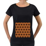 ROYAL1 BLACK MARBLE & RUSTED METAL (R) Women s Loose-Fit T-Shirt (Black) Front