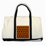 ROYAL1 BLACK MARBLE & RUSTED METAL (R) Two Tone Tote Bag Front