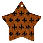 ROYAL1 BLACK MARBLE & RUSTED METAL (R) Star Ornament (Two Sides) Front
