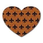 ROYAL1 BLACK MARBLE & RUSTED METAL (R) Heart Mousepads Front
