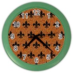 ROYAL1 BLACK MARBLE & RUSTED METAL (R) Color Wall Clocks Front