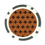 ROYAL1 BLACK MARBLE & RUSTED METAL (R) Poker Chip Card Guard Front