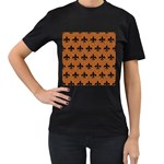 ROYAL1 BLACK MARBLE & RUSTED METAL (R) Women s T-Shirt (Black) Front
