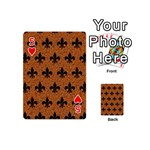 ROYAL1 BLACK MARBLE & RUSTED METAL (R) Playing Cards 54 (Mini)  Front - Heart5