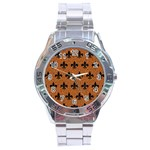 ROYAL1 BLACK MARBLE & RUSTED METAL (R) Stainless Steel Analogue Watch Front