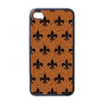 ROYAL1 BLACK MARBLE & RUSTED METAL (R) Apple iPhone 4 Case (Black) Front