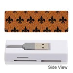 ROYAL1 BLACK MARBLE & RUSTED METAL (R) Memory Card Reader (Stick)  Front