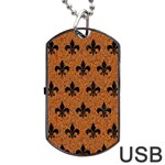 ROYAL1 BLACK MARBLE & RUSTED METAL (R) Dog Tag USB Flash (One Side) Front