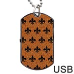 ROYAL1 BLACK MARBLE & RUSTED METAL (R) Dog Tag USB Flash (Two Sides) Back