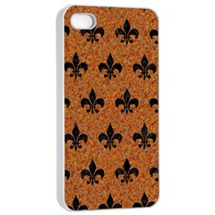 Royal1 Black Marble & Rusted Metal (r) Apple Iphone 4/4s Seamless Case (white)