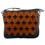 ROYAL1 BLACK MARBLE & RUSTED METAL (R) Messenger Bags Front
