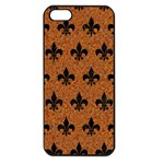 ROYAL1 BLACK MARBLE & RUSTED METAL (R) Apple iPhone 5 Seamless Case (Black) Front