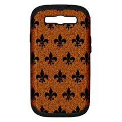 Royal1 Black Marble & Rusted Metal (r) Samsung Galaxy S Iii Hardshell Case (pc+silicone)