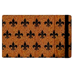 Royal1 Black Marble & Rusted Metal (r) Apple Ipad 2 Flip Case