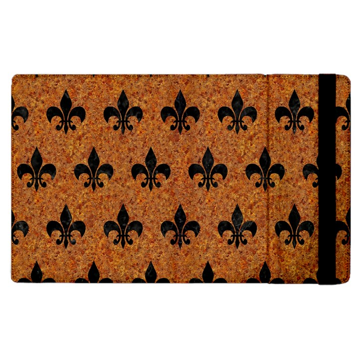 ROYAL1 BLACK MARBLE & RUSTED METAL (R) Apple iPad 3/4 Flip Case