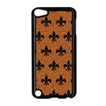 ROYAL1 BLACK MARBLE & RUSTED METAL (R) Apple iPod Touch 5 Case (Black) Front
