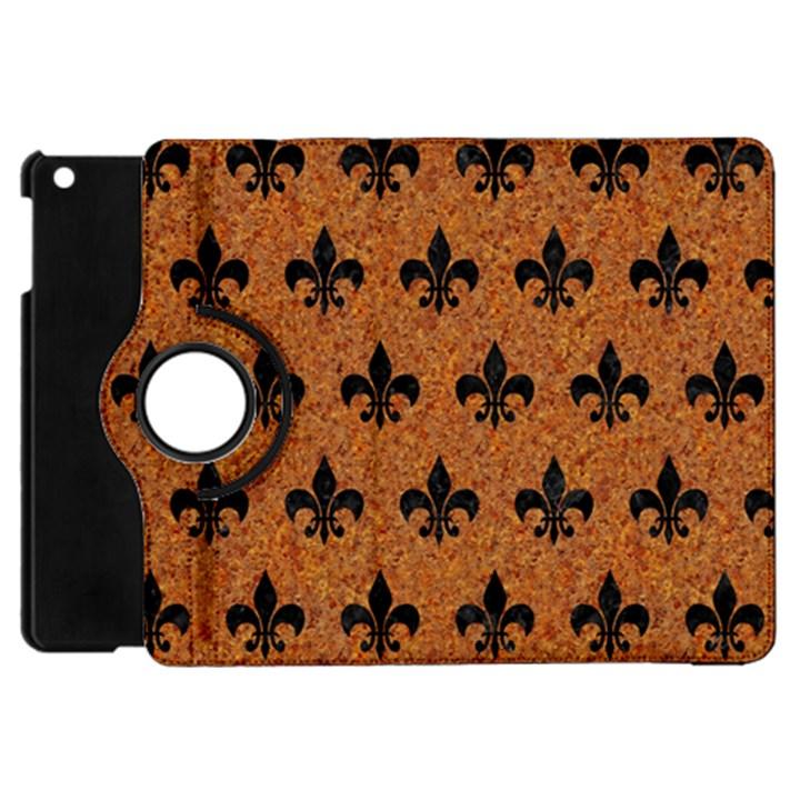 ROYAL1 BLACK MARBLE & RUSTED METAL (R) Apple iPad Mini Flip 360 Case