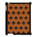 ROYAL1 BLACK MARBLE & RUSTED METAL (R) Apple iPad 3/4 Case (Black) Front