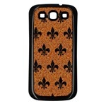 ROYAL1 BLACK MARBLE & RUSTED METAL (R) Samsung Galaxy S3 Back Case (Black) Front