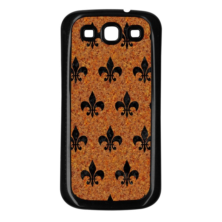 ROYAL1 BLACK MARBLE & RUSTED METAL (R) Samsung Galaxy S3 Back Case (Black)