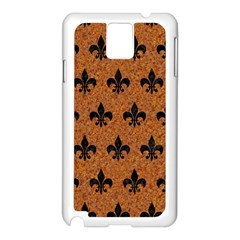 Royal1 Black Marble & Rusted Metal (r) Samsung Galaxy Note 3 N9005 Case (white)