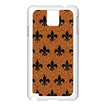 ROYAL1 BLACK MARBLE & RUSTED METAL (R) Samsung Galaxy Note 3 N9005 Case (White) Front