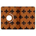 ROYAL1 BLACK MARBLE & RUSTED METAL (R) Kindle Fire HDX Flip 360 Case Front